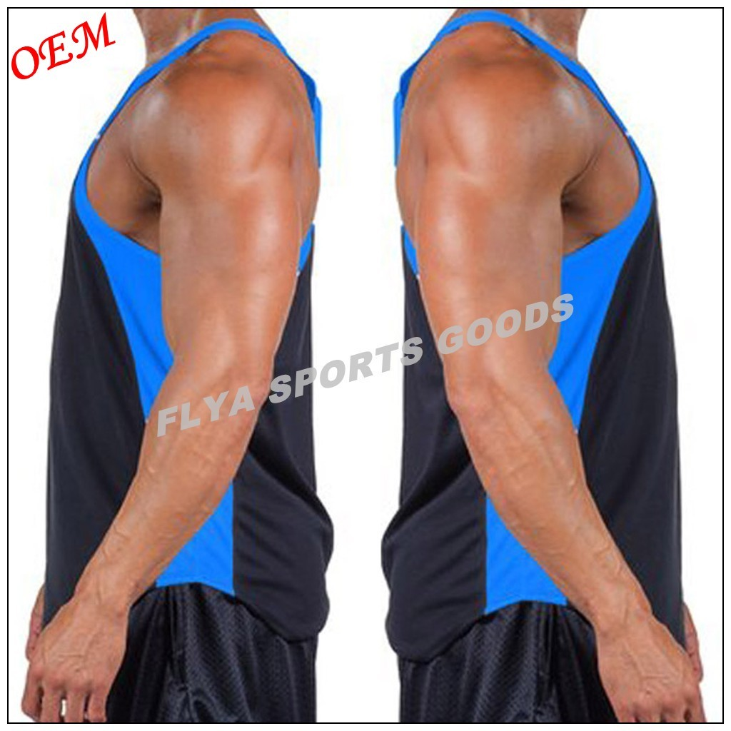 2016 promotional mens racerback muscle gym singlet