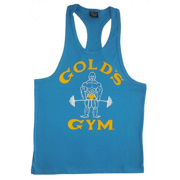 Factory price custom logo t back gym singlet