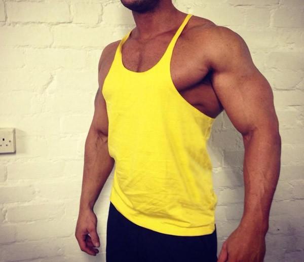 Golds gym fitness wholesale stringer tank top