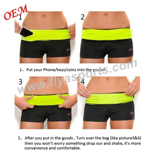 new design best running belt  with zipper pocket